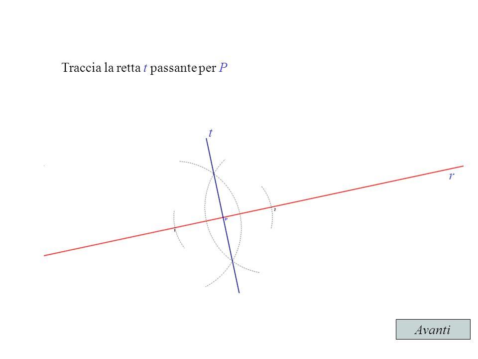 Traccia la retta t passante per P