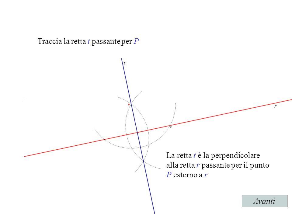 Retta perpendicolare ad una retta data passante per punto for Punto p esterno alla circonferenza