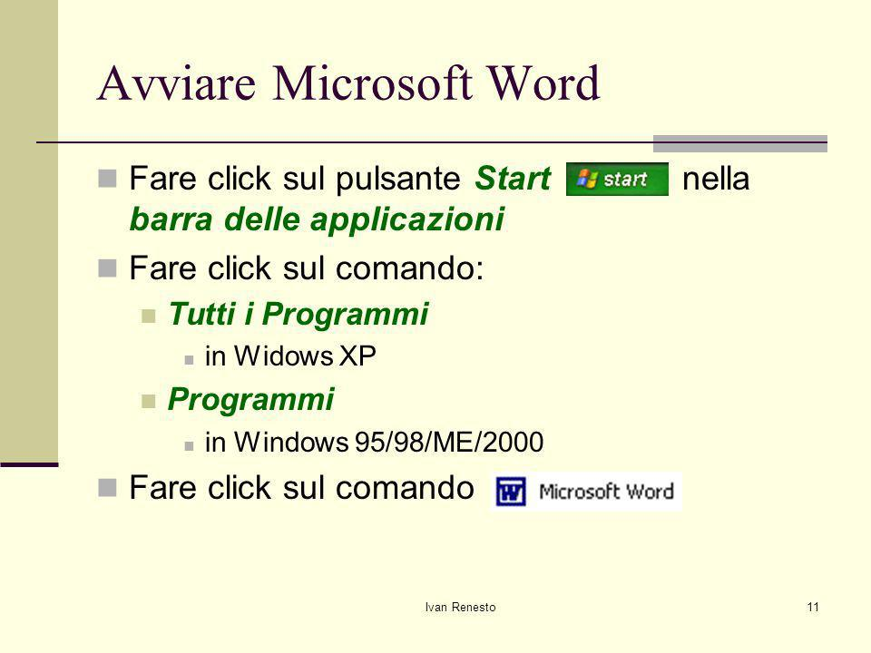 Avviare Microsoft Word
