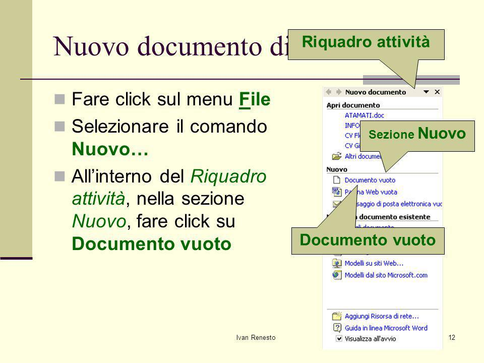 Nuovo documento di testo