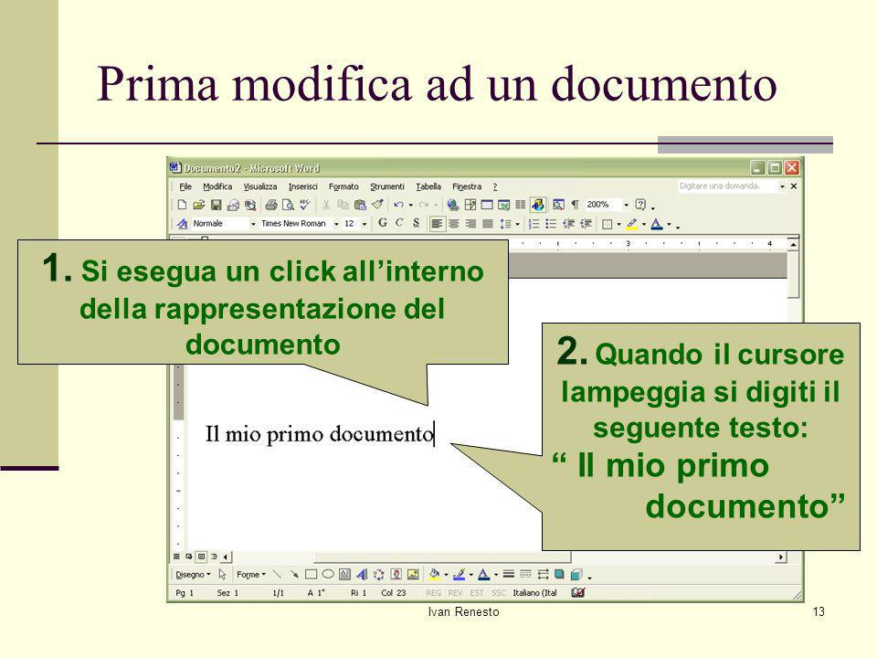 Prima modifica ad un documento