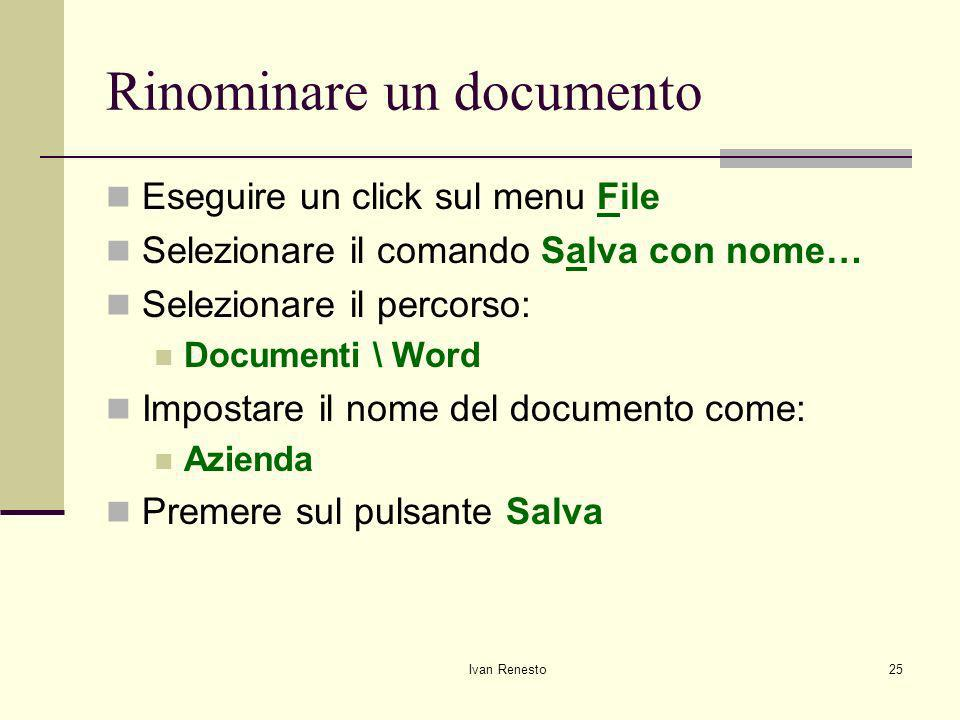 Rinominare un documento