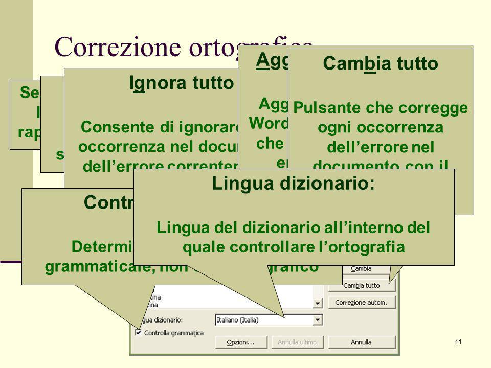 Correzione ortografica