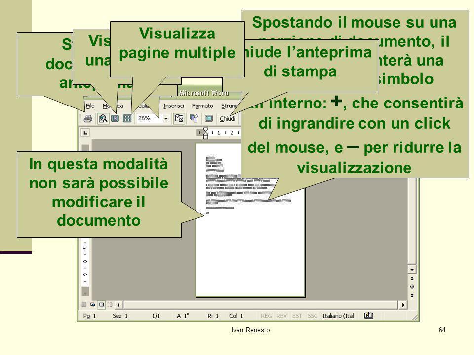 Visualizzare l'anteprima di stampa
