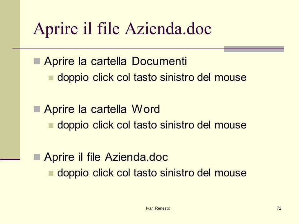 Aprire il file Azienda.doc