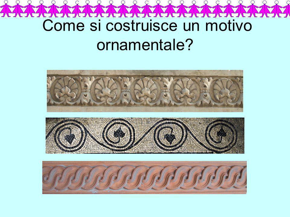 Come si costruisce un motivo ornamentale
