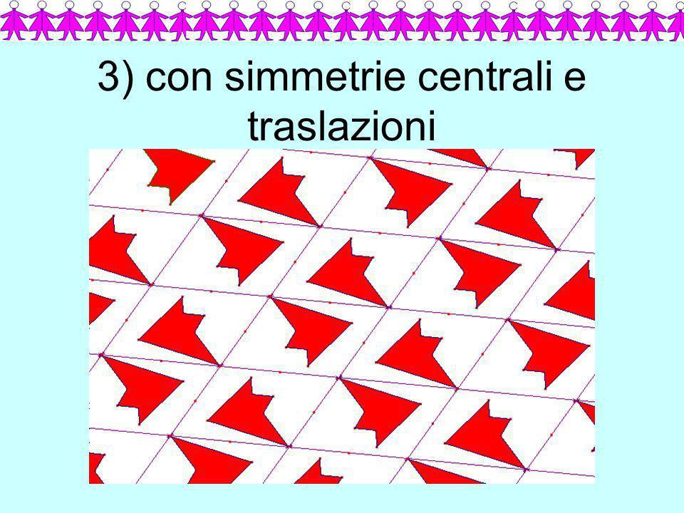 3) con simmetrie centrali e traslazioni