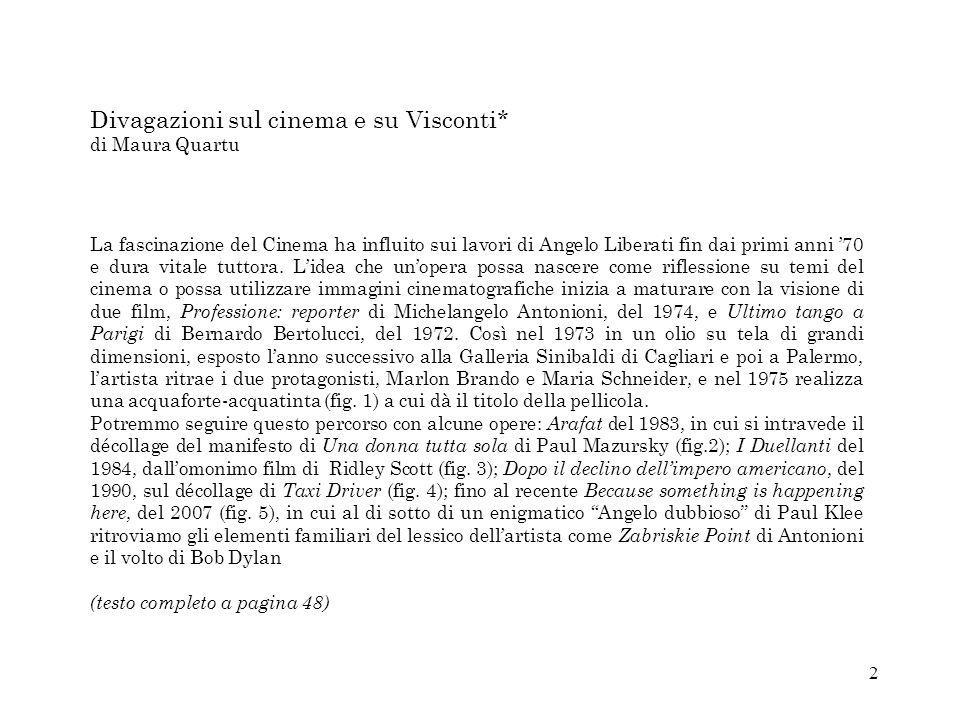 Divagazioni sul cinema e su Visconti* di Maura Quartu