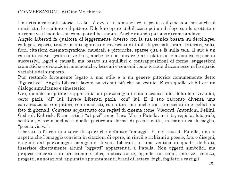 CONVERSAZIONI di Gino Melchiorre