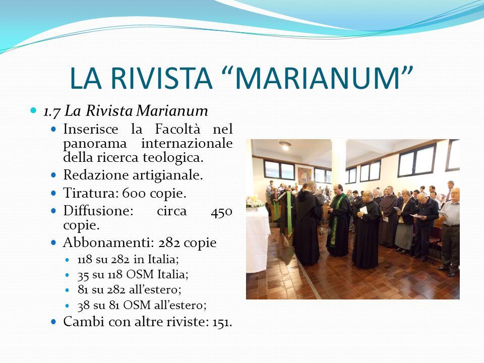LA RIVISTA MARIANUM 1.7 La Rivista Marianum