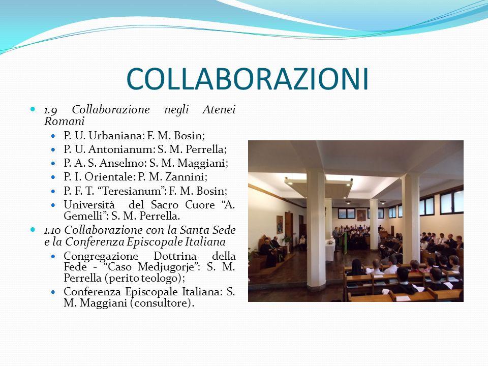 COLLABORAZIONI 1.9 Collaborazione negli Atenei Romani
