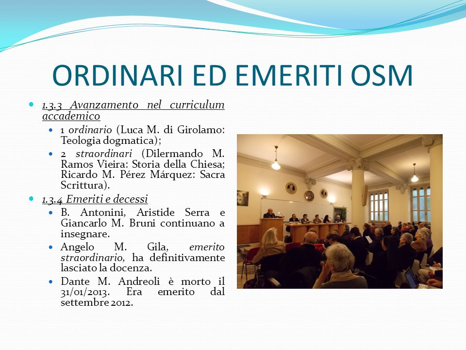 ORDINARI ED EMERITI OSM