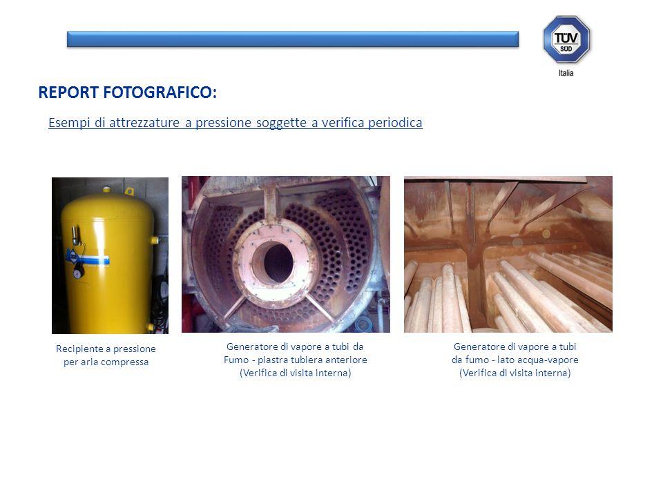 REPORT FOTOGRAFICO: Esempi di attrezzature a pressione soggette a verifica periodica. Recipiente a pressione.