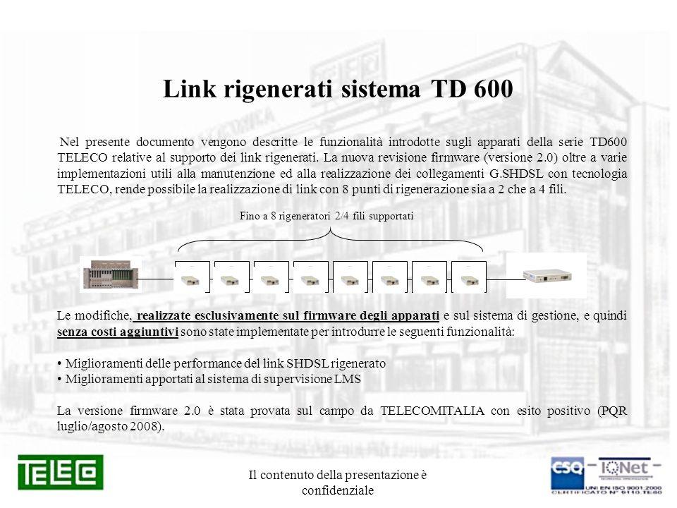 Link rigenerati sistema TD 600