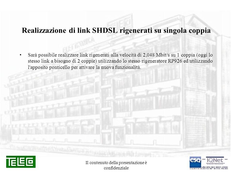 Realizzazione di link SHDSL rigenerati su singola coppia