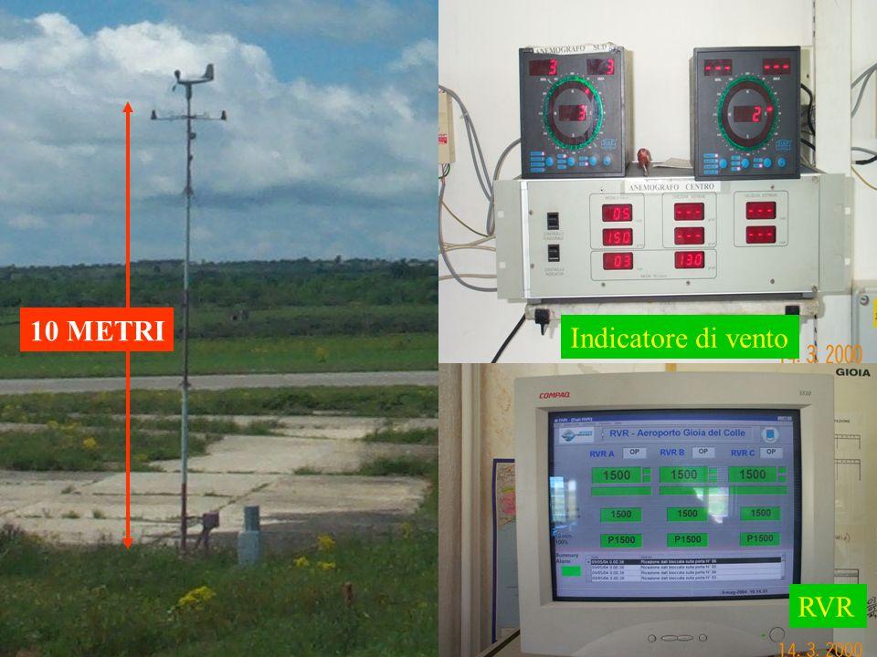 10 METRI Indicatore di vento RVR