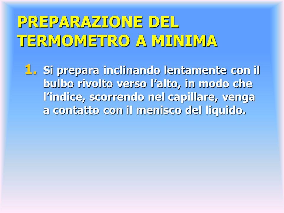 PREPARAZIONE DEL TERMOMETRO A MINIMA