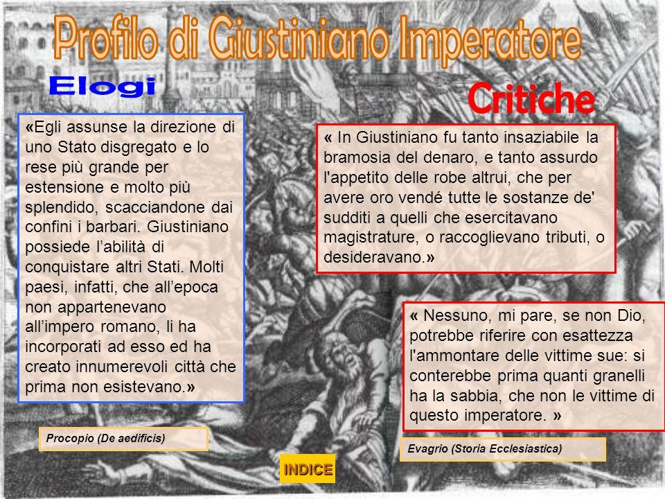 Profilo di Giustiniano Imperatore