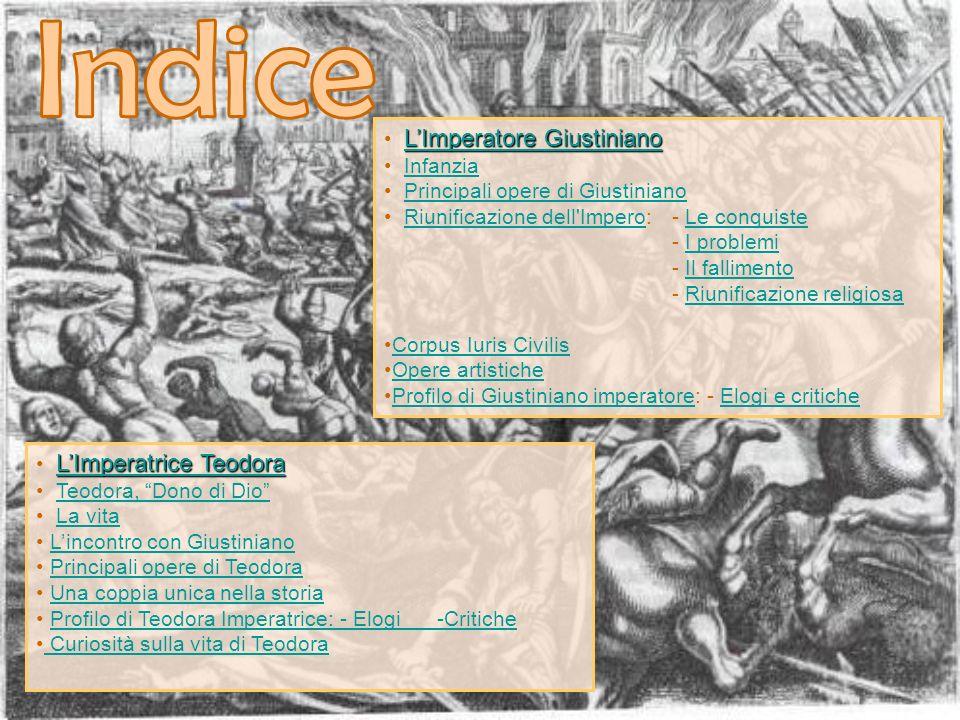 Indice L'Imperatore Giustiniano Infanzia