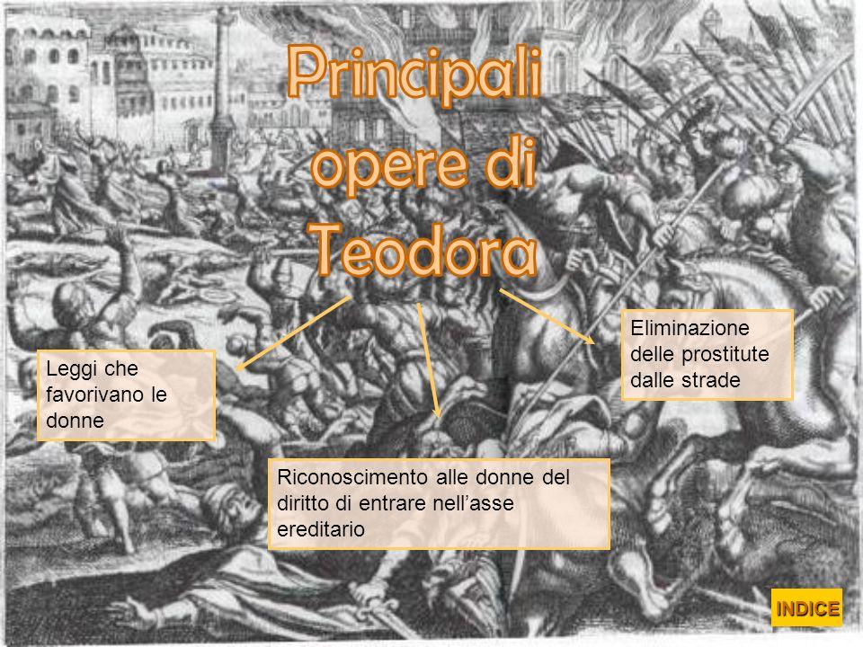 Principali opere di Teodora Eliminazione delle prostitute dalle strade