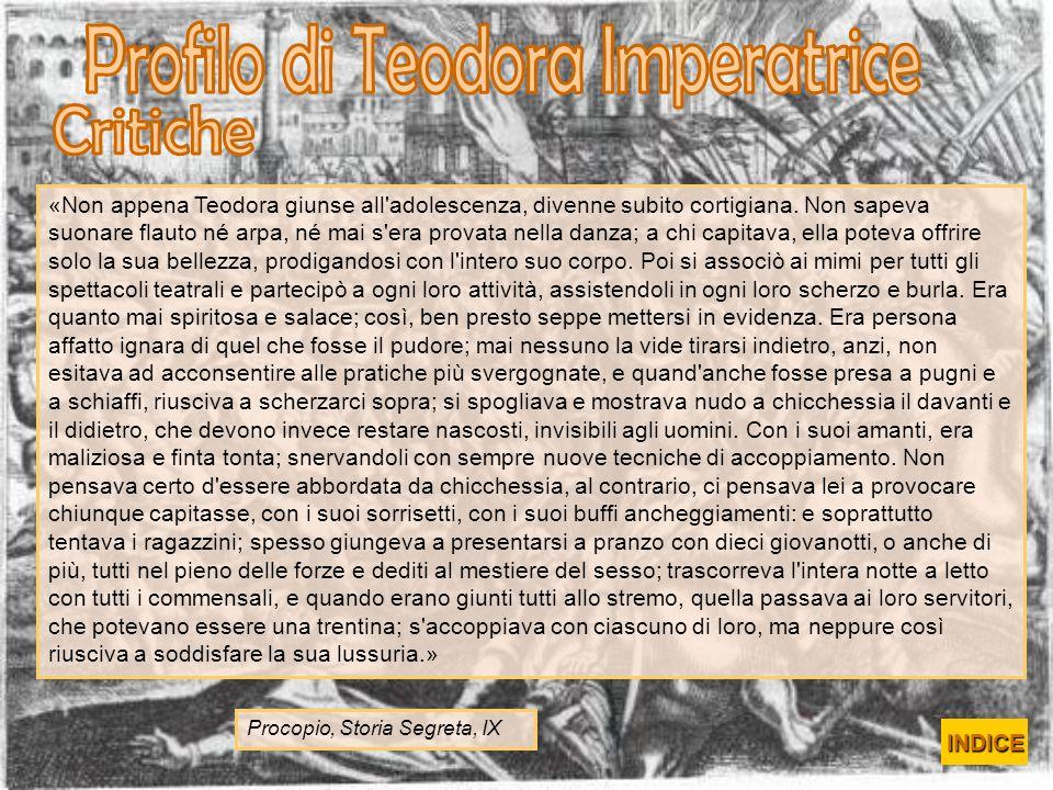 Profilo di Teodora Imperatrice