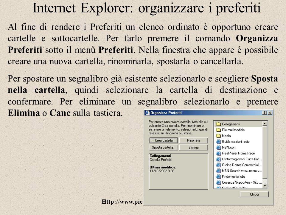 Internet Explorer: organizzare i preferiti