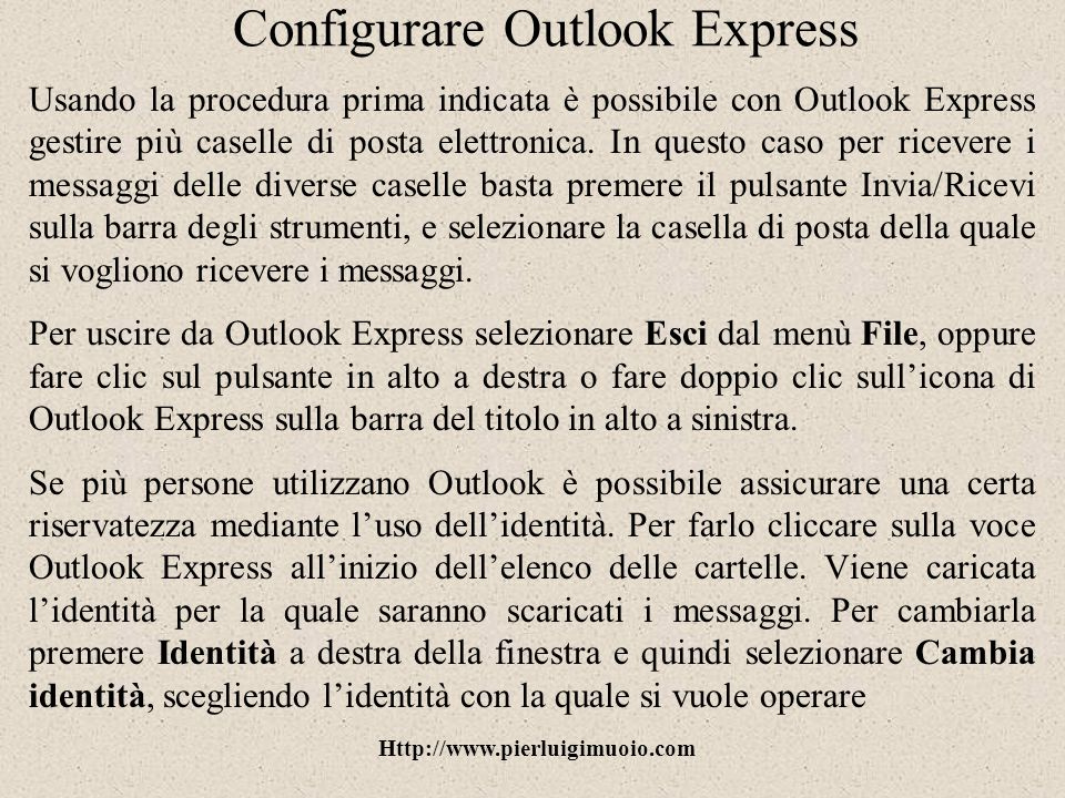 Configurare Outlook Express