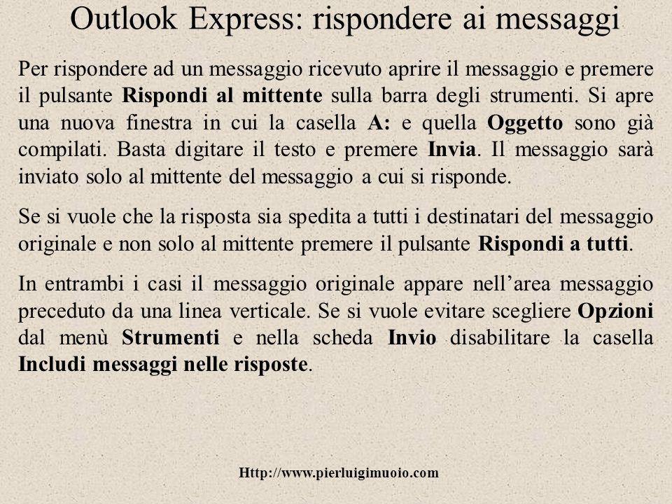 Outlook Express: rispondere ai messaggi