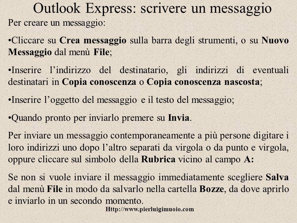 Outlook Express: scrivere un messaggio