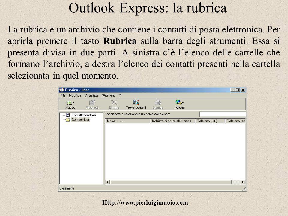 Outlook Express: la rubrica
