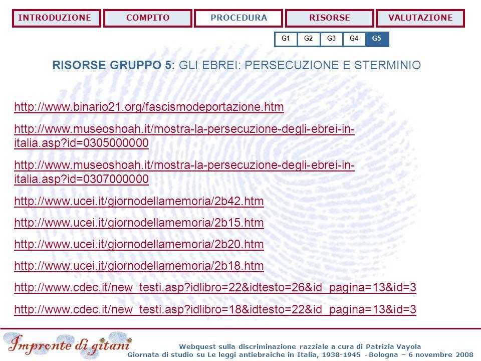 Webquest sulla discriminazione razziale a cura di Patrizia Vayola