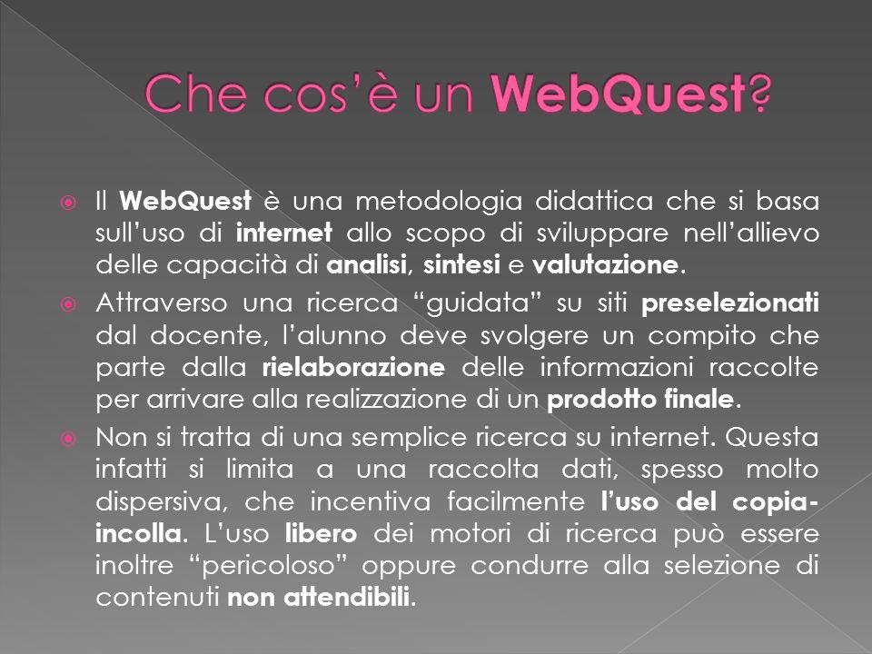 Che cos'è un WebQuest