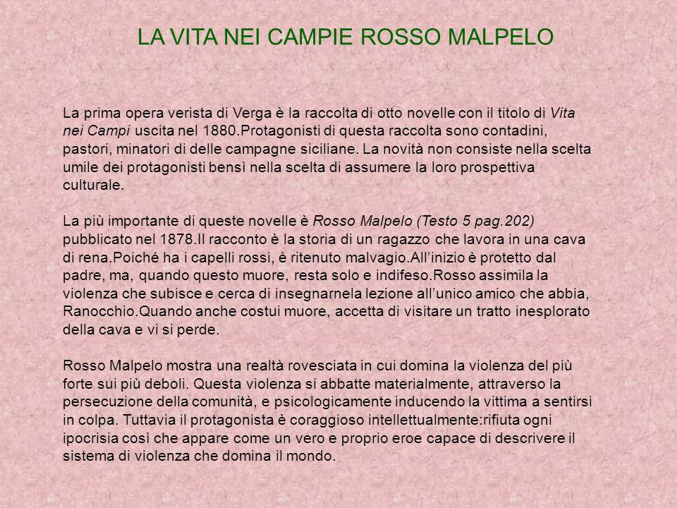 LA VITA NEI CAMPIE ROSSO MALPELO