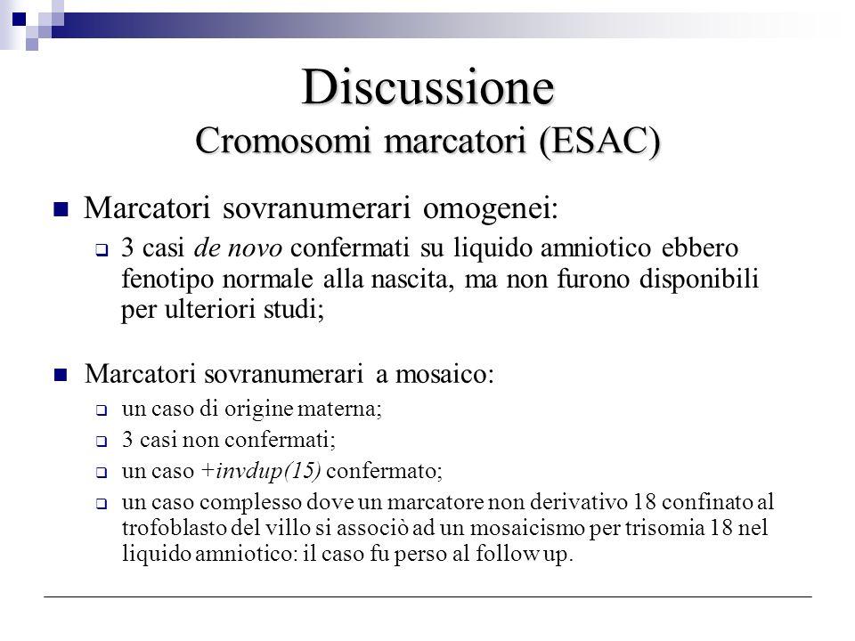Discussione Cromosomi marcatori (ESAC)