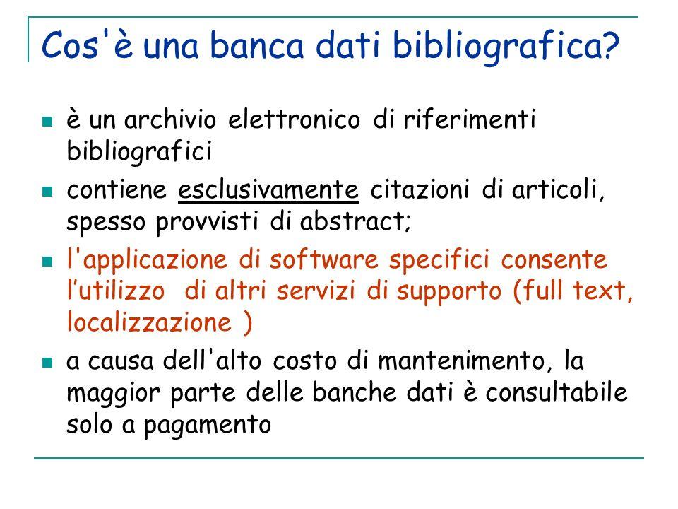 Cos è una banca dati bibliografica