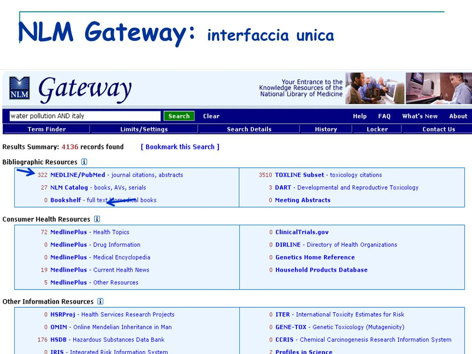 NLM Gateway: interfaccia unica