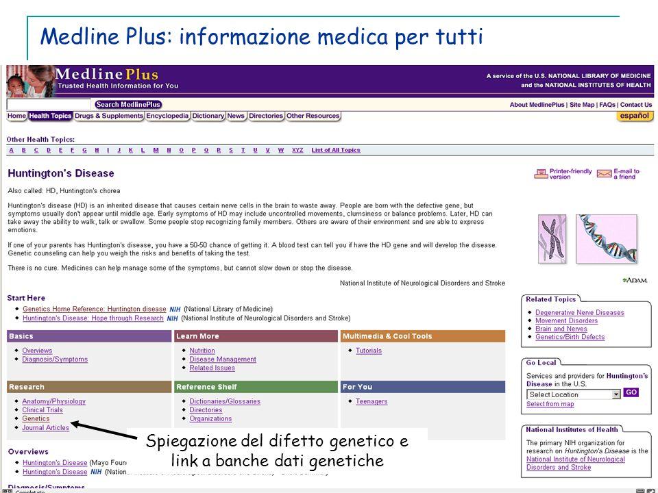 Medline Plus: informazione medica per tutti