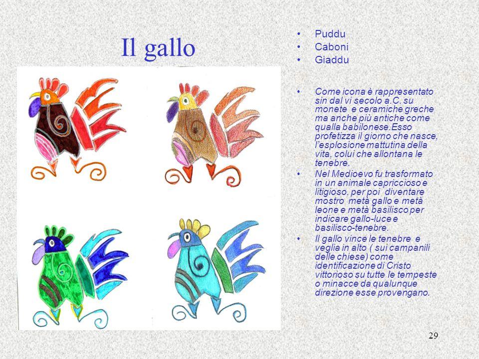 Il gallo Puddu Caboni Giaddu