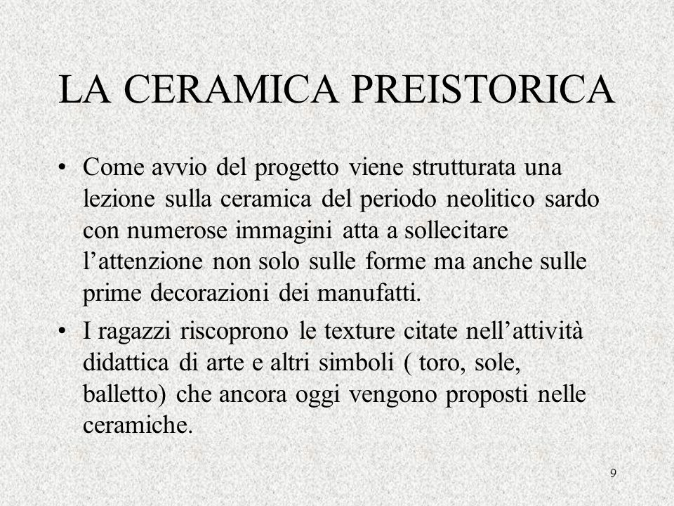LA CERAMICA PREISTORICA
