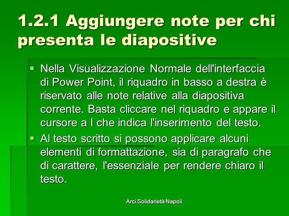 1.2.1 Aggiungere note per chi presenta le diapositive
