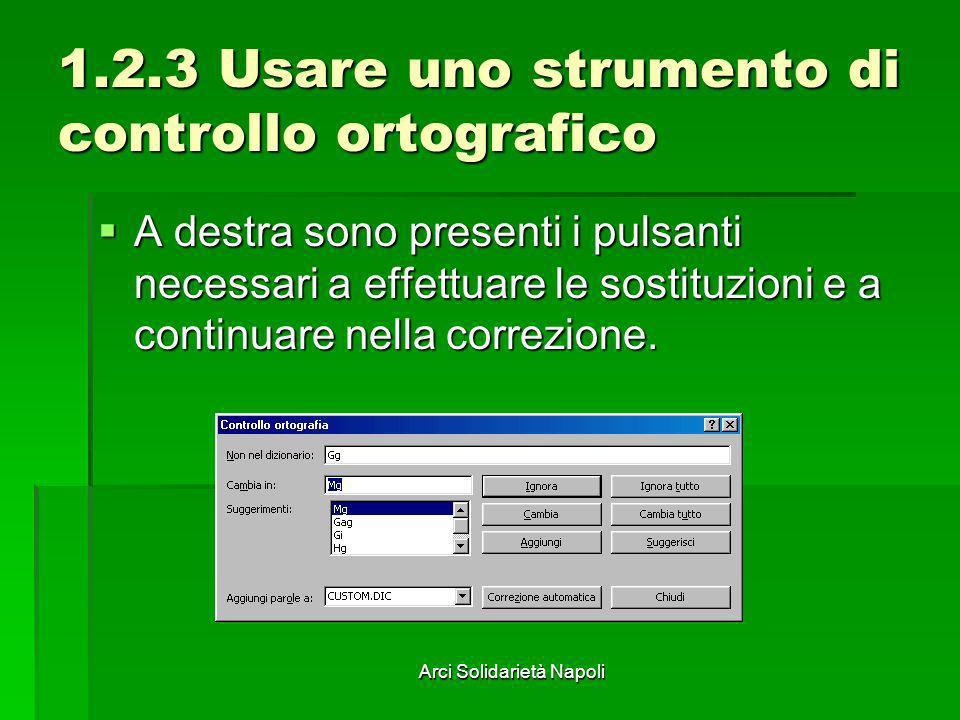 1.2.3 Usare uno strumento di controllo ortografico