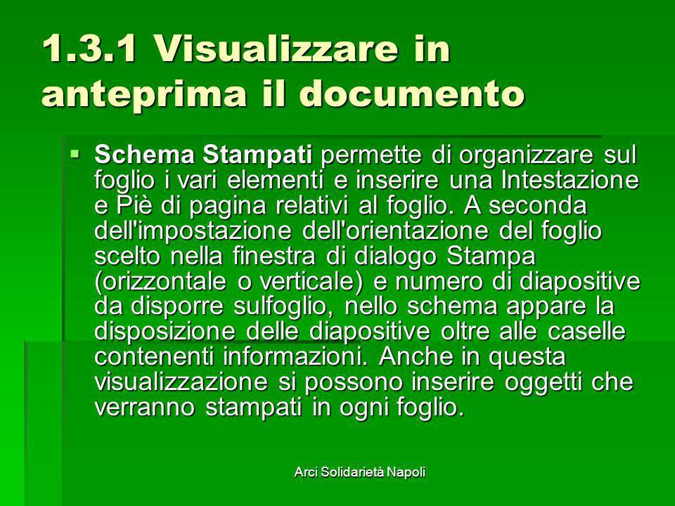 1.3.1 Visualizzare in anteprima il documento