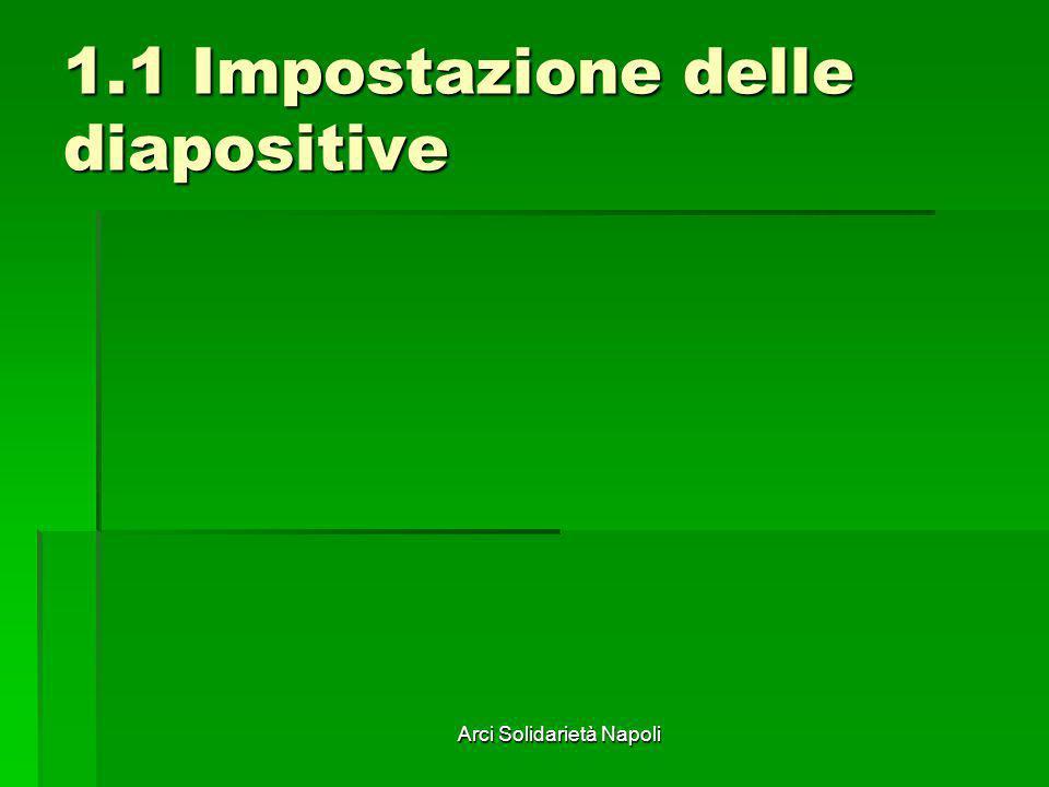 1.1 Impostazione delle diapositive