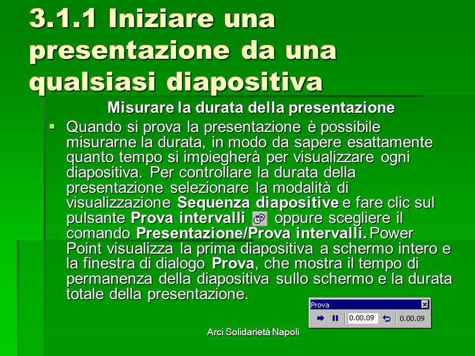 3.1.1 Iniziare una presentazione da una qualsiasi diapositiva
