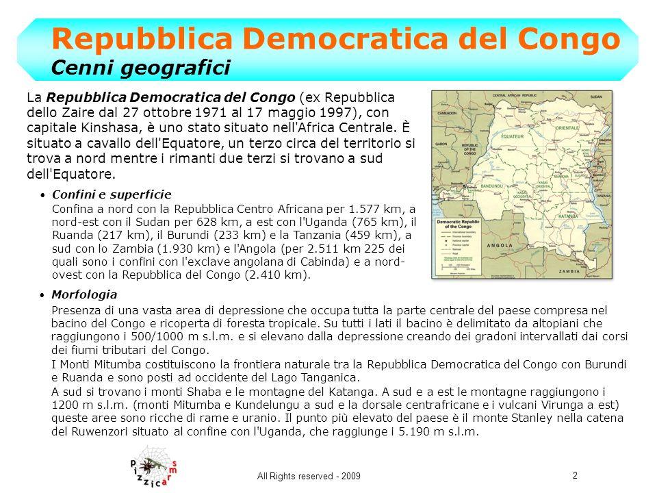 Repubblica Democratica del Congo Cenni geografici