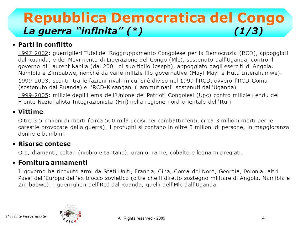 Repubblica Democratica del Congo La guerra infinita (*) (1/3)