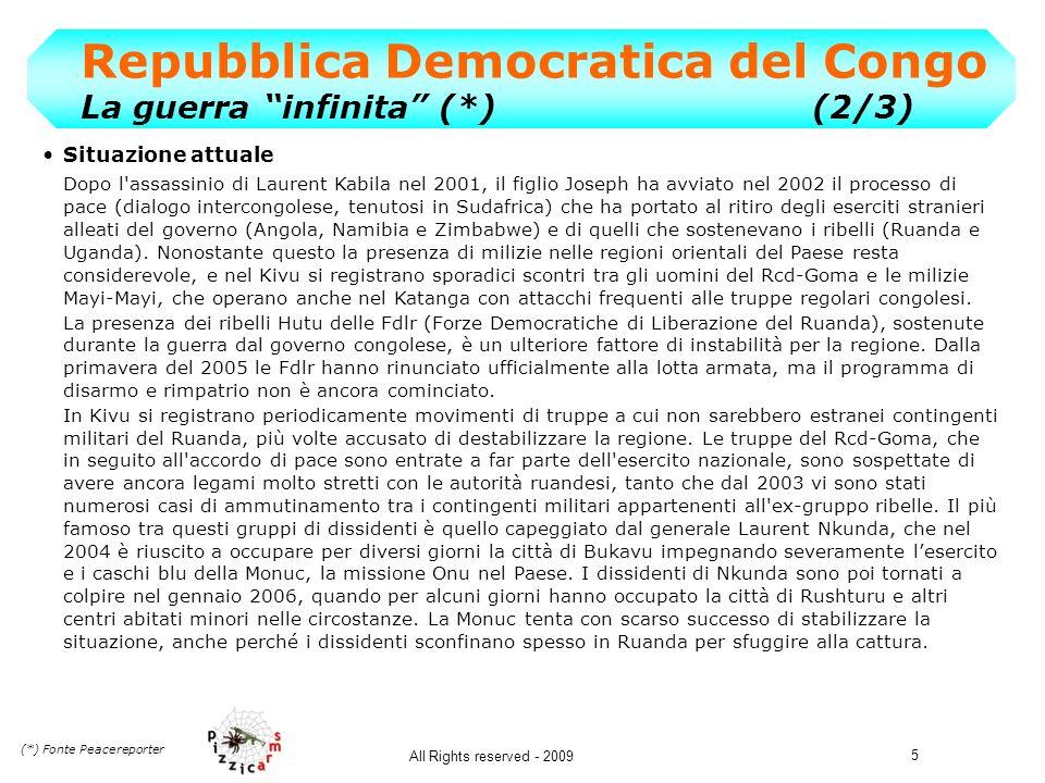 Repubblica Democratica del Congo La guerra infinita (*) (2/3)