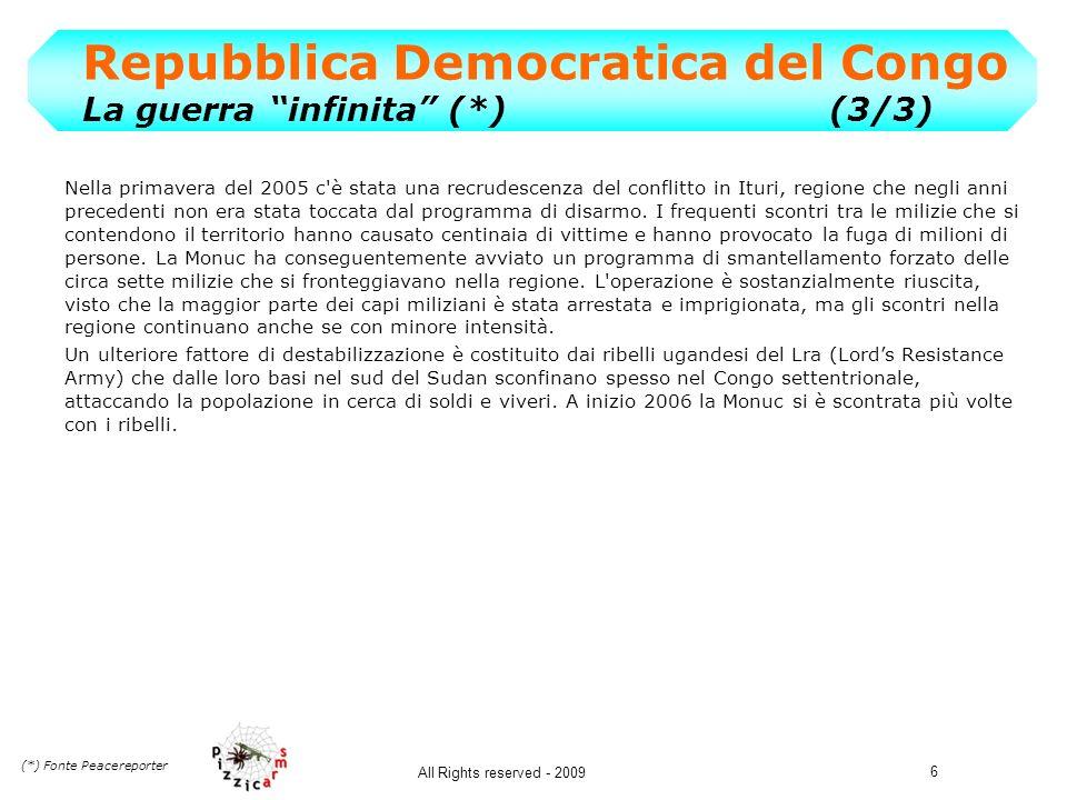 Repubblica Democratica del Congo La guerra infinita (*) (3/3)
