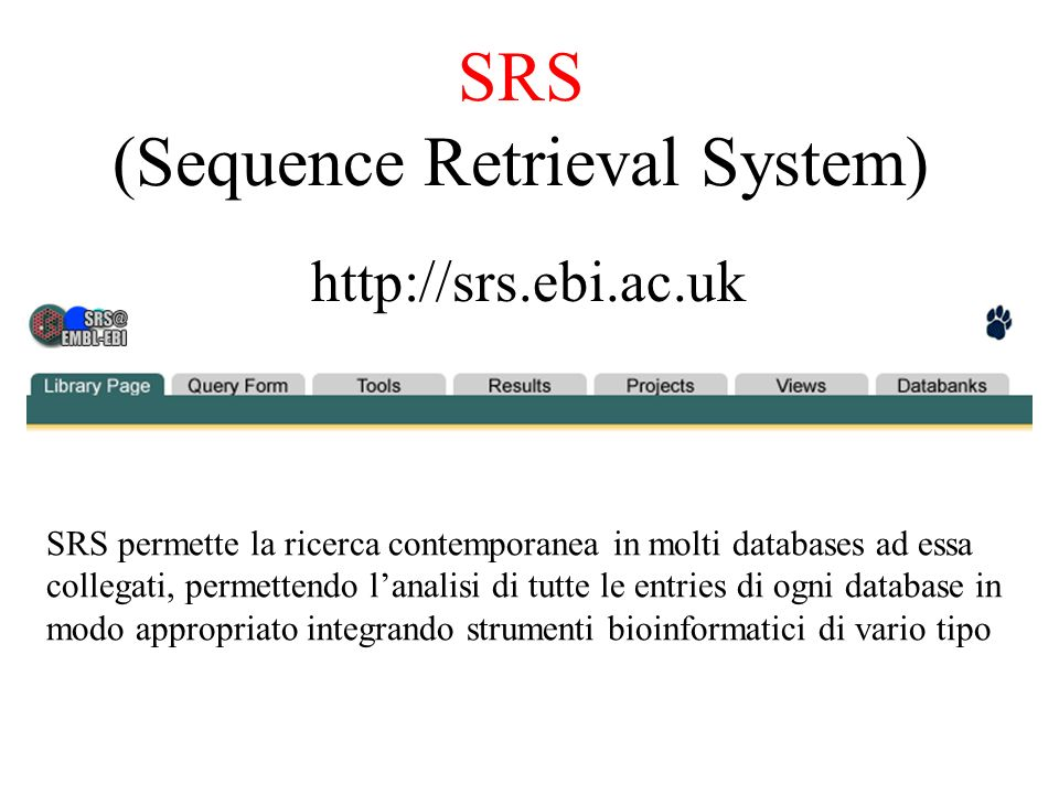 SRS (Sequence Retrieval System)