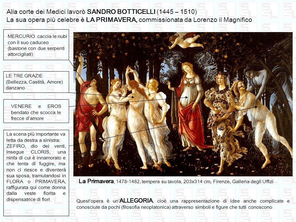 Alla corte dei Medici lavorò SANDRO BOTTICELLI (1445 – 1510)